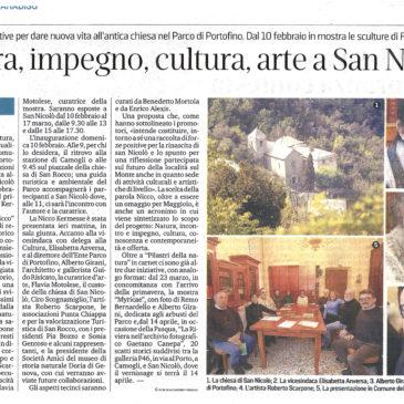 Natura, impegno, cultura, arte a San Nicolò