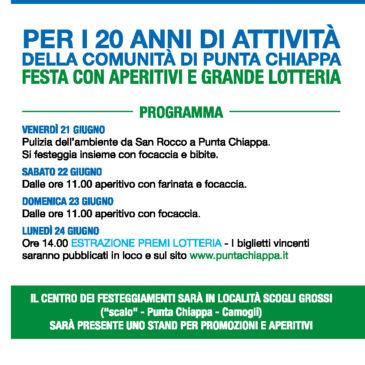 FESTA PER 20 ANNI DI ATTIVITA'